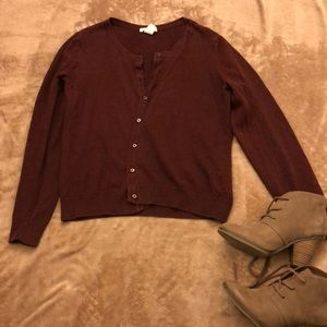 Deep Burgundy Cardigan